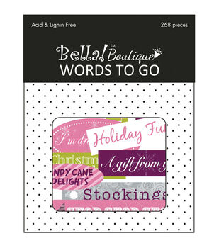 Bella! Boutique Christmas Words To Go Die-Cuts 268/Pkg-