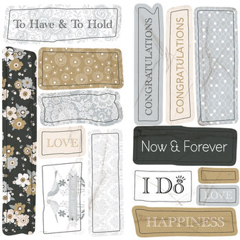 Ruby Rock-It Fundamentals Cardmaking Embossed Stickers Wedding