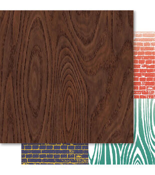 Ruby Rock-It Father Double-Sided Cardstock Paper Woodgrain