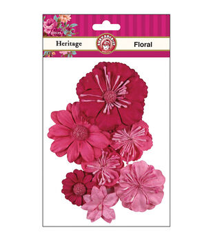 Ruby Rock-It Heritage Floral 7/Pk