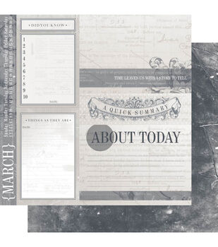 Ruby Rock-It March - Year In Review Double Sided Cardstock