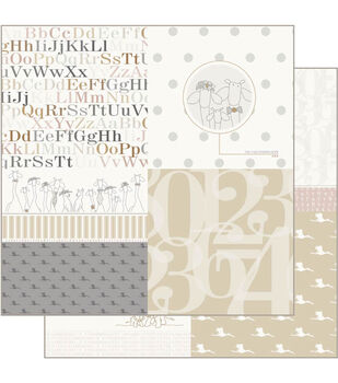 Ruby Rock-It Building 4 - Empire Bebe Double-sided Paper 12""