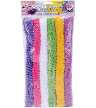 """Pepperell Noodle Roonie Jumbo Craft Stems 12"""" 6/Pk-Spring"""