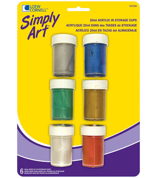 Simply Art Acrylic Paint In Storage Cups 6/Pk