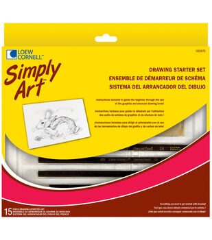 Simply Art Drawing Starter Set-15 Pieces