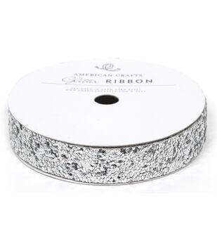 5/8In Lg Glitter Silver