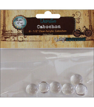 """Vintage Collection Acrylic Cabochons 1/2"""" 6/Pk"""