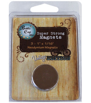 """Vintage Collection Magnets 1""""X1/16"""" 3/Pk-"""