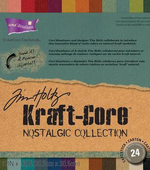 Tim Holtz Kraft Core Nostalgic Cardstock Assortment
