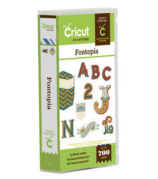 Cricut Everyday Cartridge, Fontopia