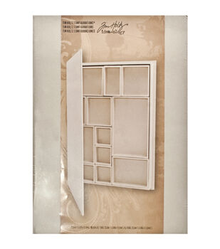 """Idea-Ology Configurations Chipboard Shadow Box Book-9""""X12"""", 12 Compartments"""