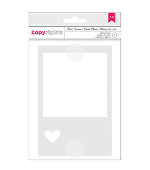 American Crafts Photo Frame - Copyrights Stencil 4X6 in