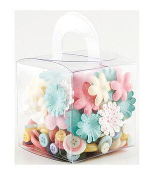 Making Memories Blossom & Buttons Box Kit-160PK/Lemonade