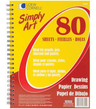 "Simply Art Drawing Spiral Paper Pad 9""X12""-80 Sheets"