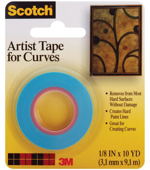Scotch Artist Tape For Curves-1/8''X10 Yards