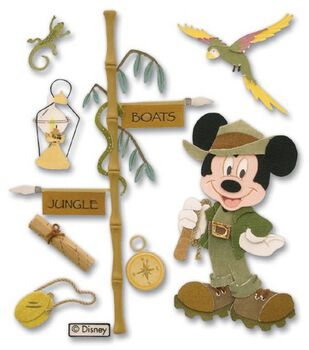 Disney Dimensional Vacation Stickers-Jungle Mickey