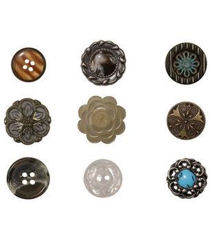 Tim Holtz Accoutrements Buttons-9PK/Idea-Ology
