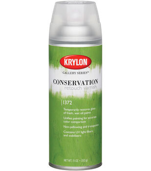 Krylon Gallery Series Conservation Retouch Varnish Aerosol Spray-11 Ounces