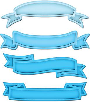 Spellbinders Shapeabilities Dies Ribbon Banners