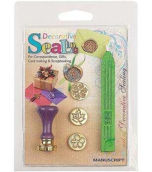Manuscript Decorative Sealing Set-Flower, Leaf & Snowflake Coins