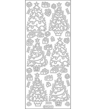 "Elizabeth Craft Designs Trees Peel Off Stickers 4""X9"" Sheet-Gold"