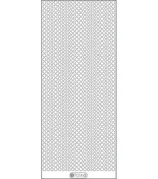 """Glitter Dots Assorti Stickers 4""""X9"""" Sheet-Red"""
