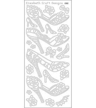 "High Heels Peel Off Stickers 4""X9"" Sheet-Black"