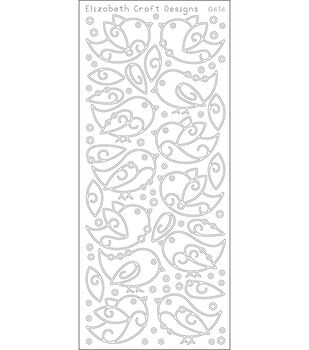 "Birds Peel Off Stickers 4""x9"" Sheet-Black"