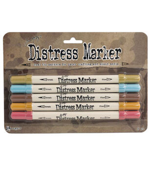 Tim Holtz Distress Marker 5 pk - Memories Past
