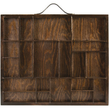 """Artist Letterblock Tray 12""""X10""""-Stained Brown, Holds Assorted Sizes"""
