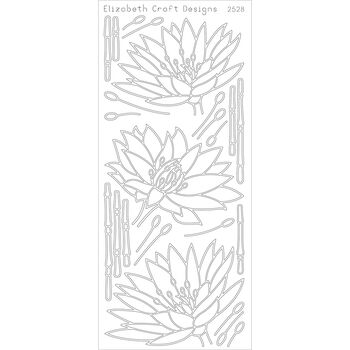 Elizabeth Craft Waterlilies Peel Off Stickers Sheet