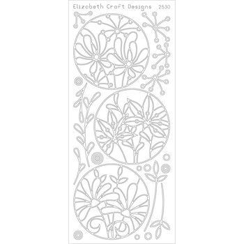 Elizabeth Craft Flower Circle Frames Peel Off Stickers Sheet