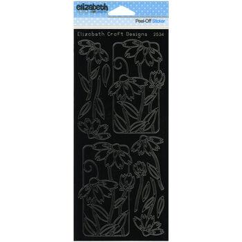 Elizabeth Craft Flowers In Frame 2 Peel Off Stickers Sheet