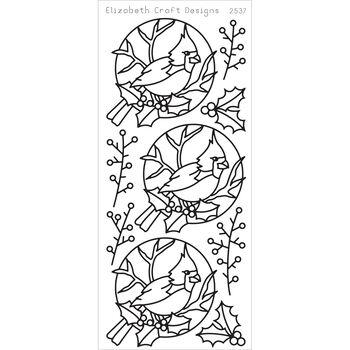 Elizabeth Craft Cardinal Bird Peel Off Stickers Sheet