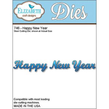 Elizabeth Craft Designs Metal Die Happy New Year