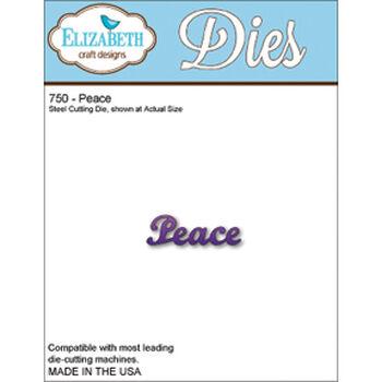 Elizabeth Craft Designs Metal Die Peace