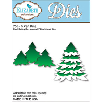 Elizabeth Craft Designs Metal Die 5-Part Pine