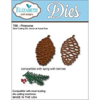 Elizabeth Craft Designs Metal Die Pinecone