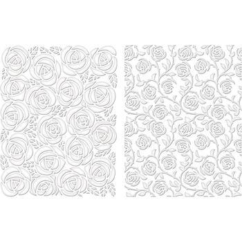 Spellbinders M-Bossabilities A2 Card Embossing Folder Cabbage Rose