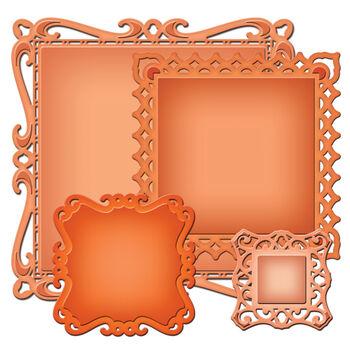 Spellbinders Nestabilities Decorative Elements Dies Captivating Squares