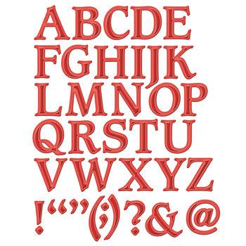 Spellbinders Shapeabilities Font Dies Font 1, Uppercase