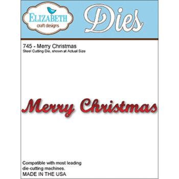 Elizabeth Craft Designs Metal Die Merry Christmas