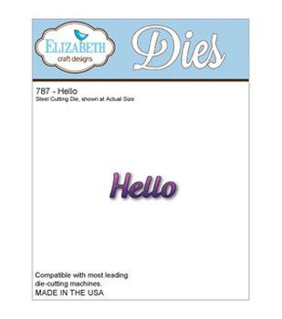Elizabeth Craft Metal Die-Hello