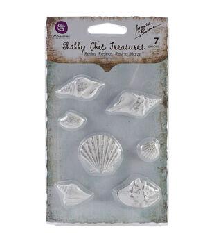 Shabby Chic Treasures Resin embellishments-Seashells 7/Pkg