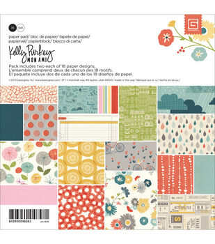 Basic Grey Mon Ami Paper Pad 6X6 in