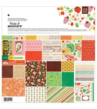 "Basic Grey Collection Pack 12""X12""-Herbs & Honey"