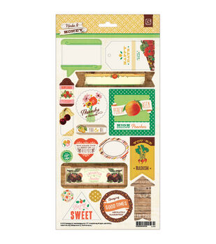 "Herbs & Honey Cardstock Stickers 5.75""X12""-Title"