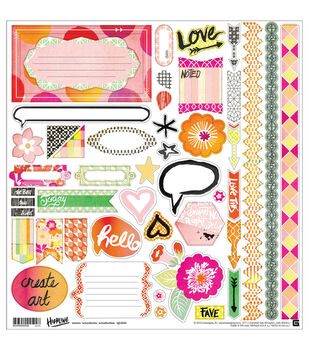 "Highline Cardstock Stickers 12""X12""-Element"