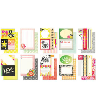 "Highline Snippets Double-Sided Cardstock Cards 4""X6""-10 Designs/2 Each"