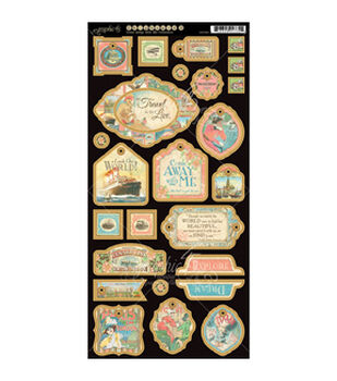 """Come Away With Me Chipboard Die-Cuts 6""""X12"""" Sheet-Decorative"""